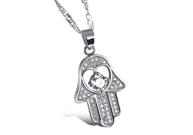 Silver/Gold Plated Religious Hamsa Hand Necklace