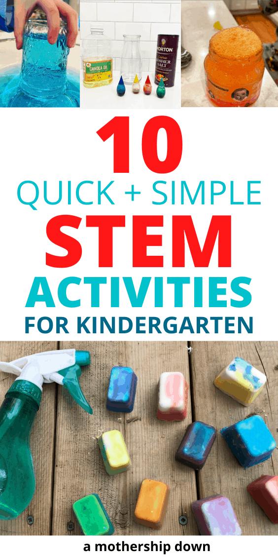 10 Quick + Simple STEM Activities for Kindergarten - A ...