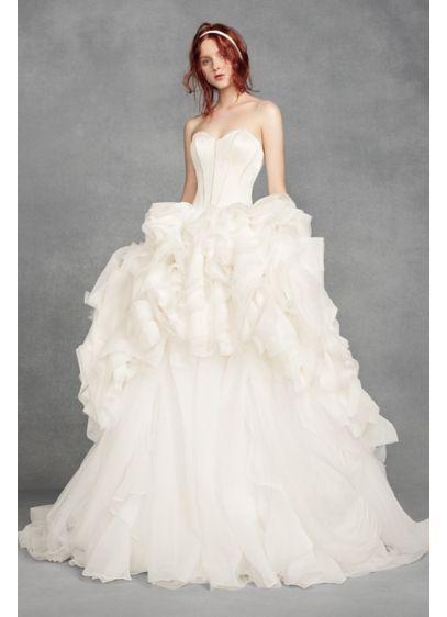 White by Vera Wang Tiered Organza Wedding Dress VW351411