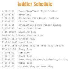 Sample Toddler SchedualRepin By For Ipad  Kids And