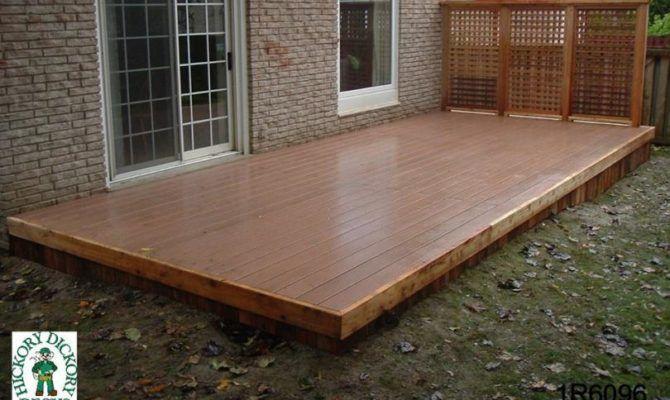 Deck Plan Medium Low Single Level Decks Backyard Deck Designs