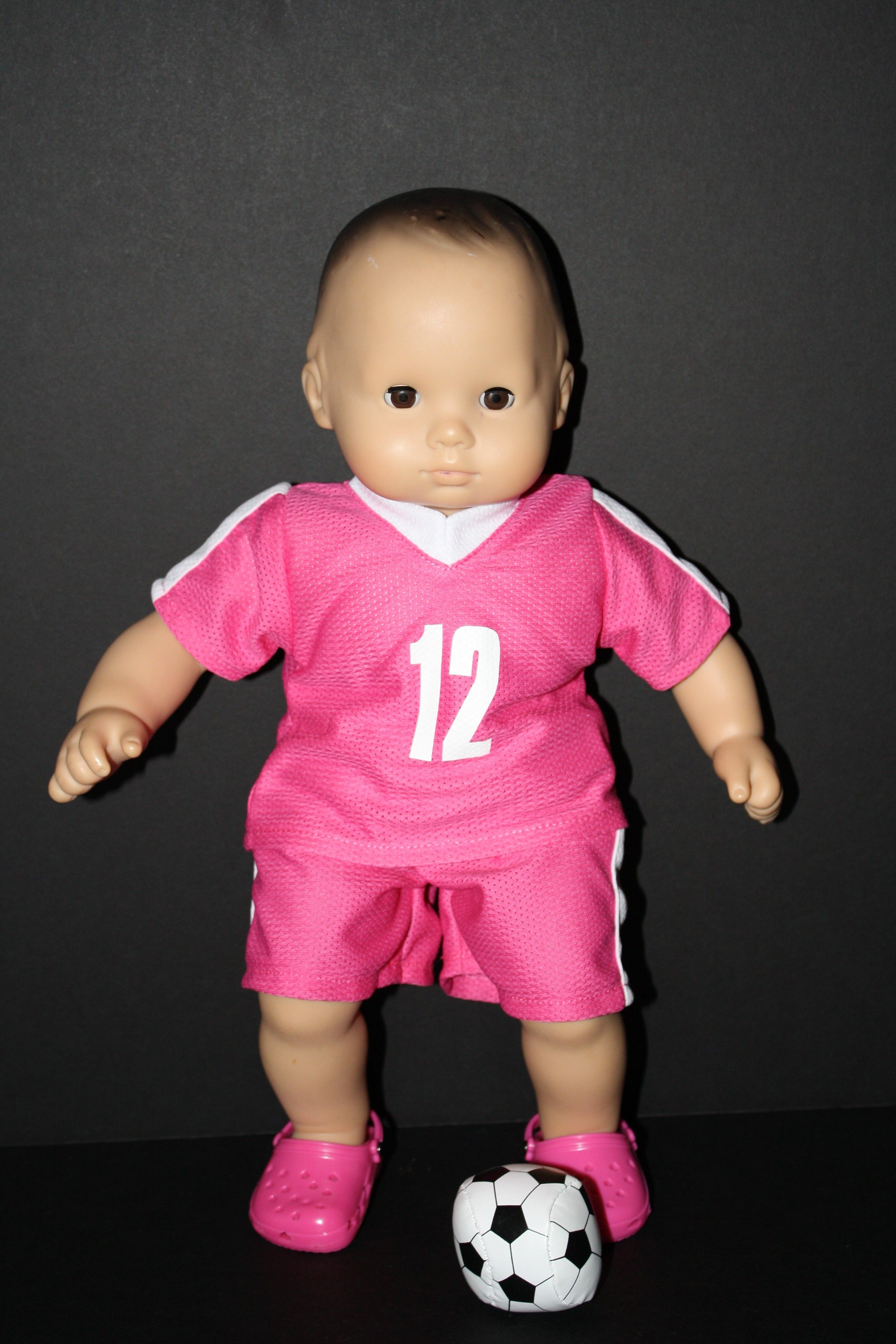 Pink Soccer Uniform With Ball for American Girl Bitty BABY from ...