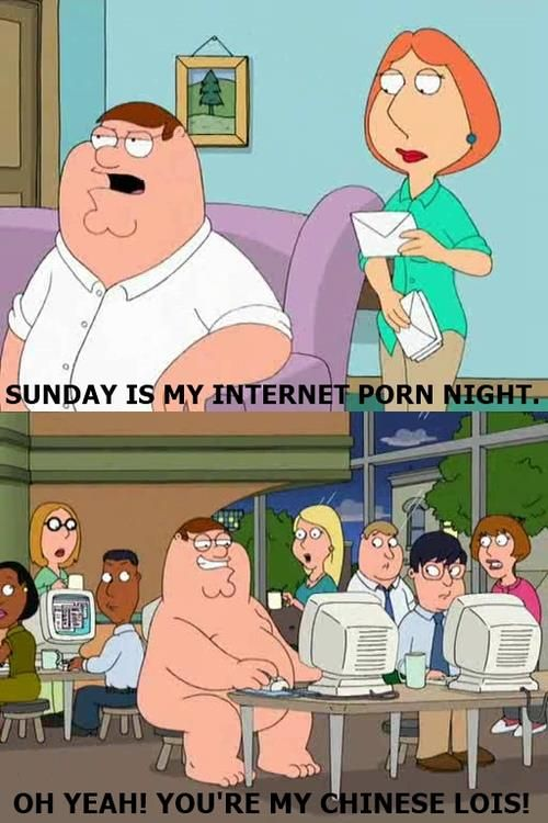 Sunday is Peter's internet night