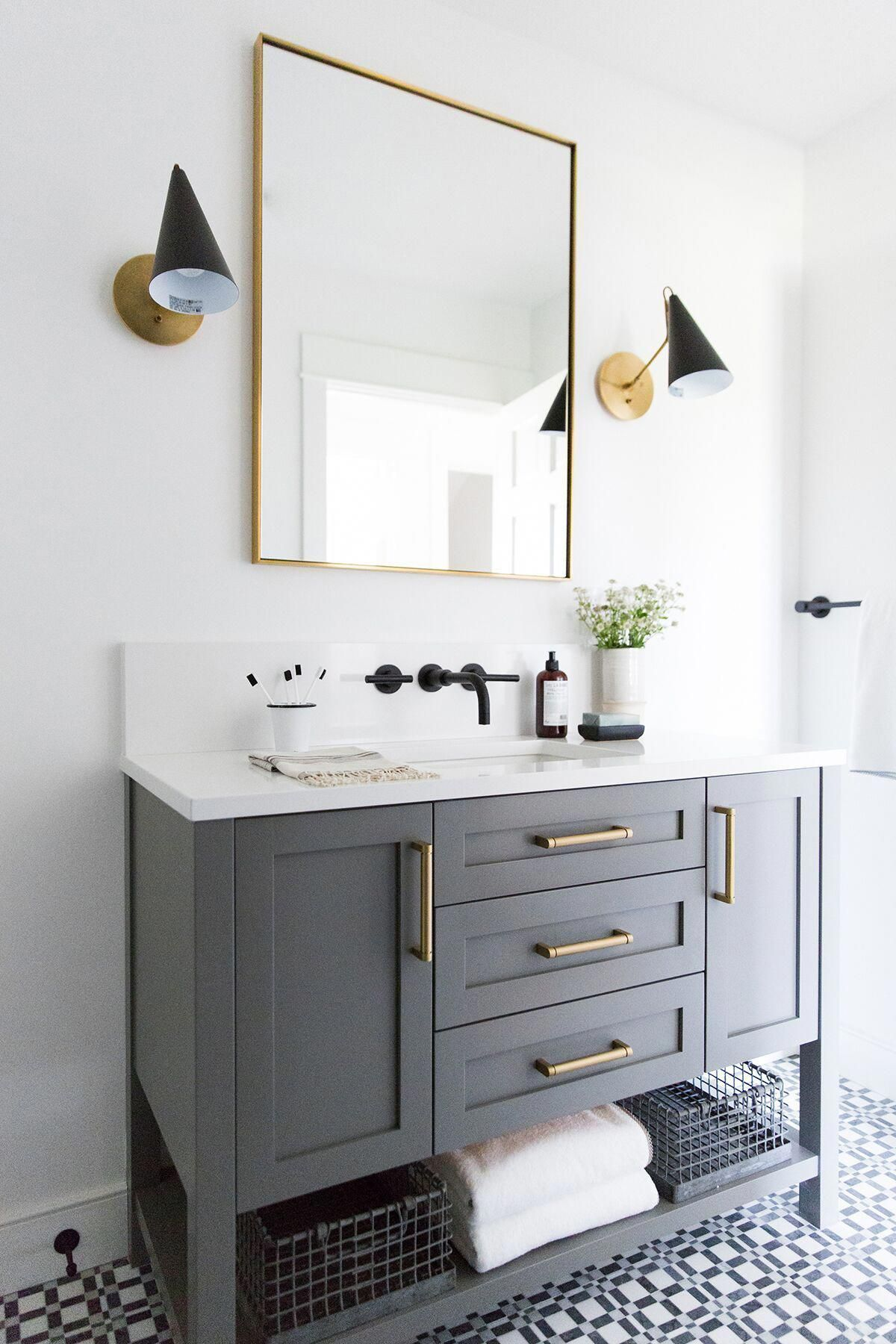 By Utilizing Accessories Colors And Displaying Beautiful Products In A Bathroom Your Guests Will Not Conce Guest Bathroom Small Trendy Bathroom Small Bathroom