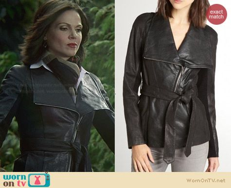 Jacket On A Once And Gloves Leather Regina's Red Belted Upon qOUTR