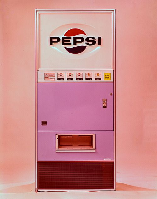 maybe I'll paint my garage pink one day and this could be my first piece - vintage pink pepsi machine...would'nt that be fun?