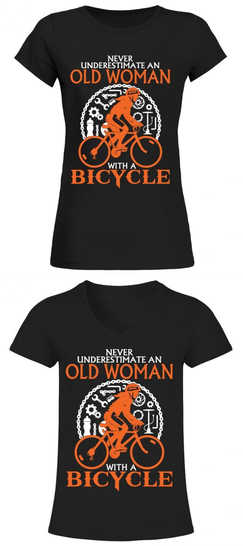 Kenya Running T Shirt Old Woman With A Bicycle Front White Running