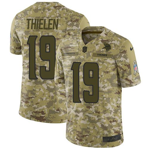 Youth Nike Limited Adam Thielen Minnesota Vikings Camo Jersey  NFL 2018  Salute to Service  19 abcdf9e93