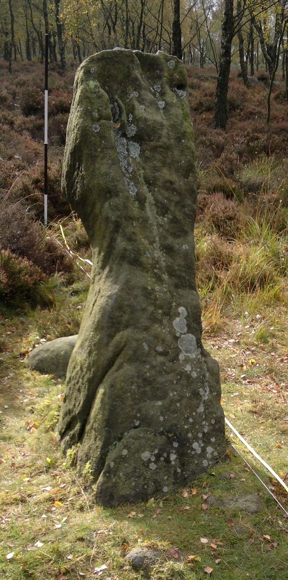 The monolith is located at a ridge called Gardom's Edge in the Peak District National Park near Manchester. The seemingly astronomical monolith is thought to have been erected by Neolithic people around 2000 B.C.