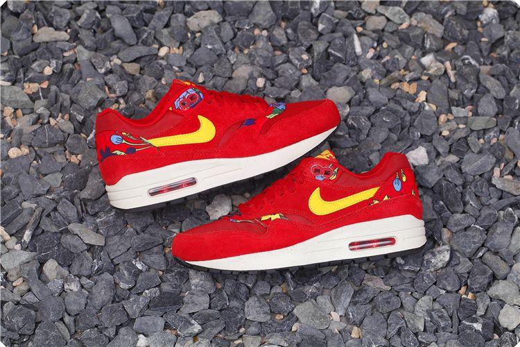 93f65f8398 NIKE AIR MAX 1 FLORAL PRINT ALOHA PACK RED 528898 602 $180   Nike ...
