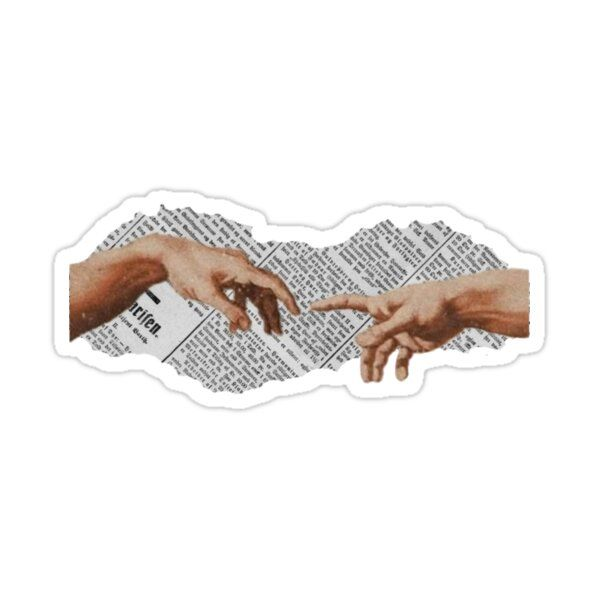 The Touch Of God- Dark Academia Collage Sticker by