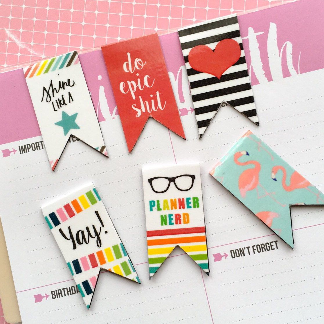 MAGNETIC BOOKMARK: Planner nerd | Magnetic bookmarks, Bookmarks ...