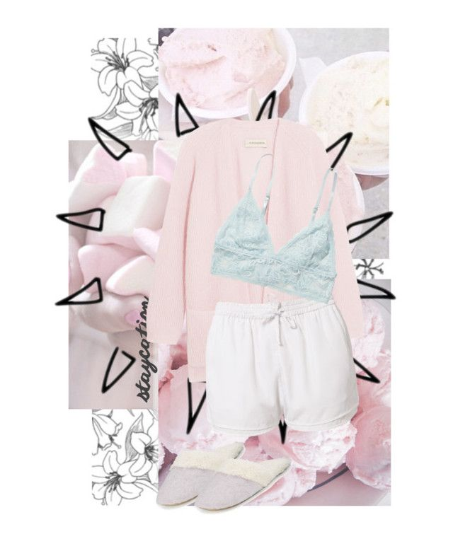 """""""one of those days."""" by emmascreative ❤ liked on Polyvore featuring Aime, By Malene Birger, Estradeur, Monki and Natori"""