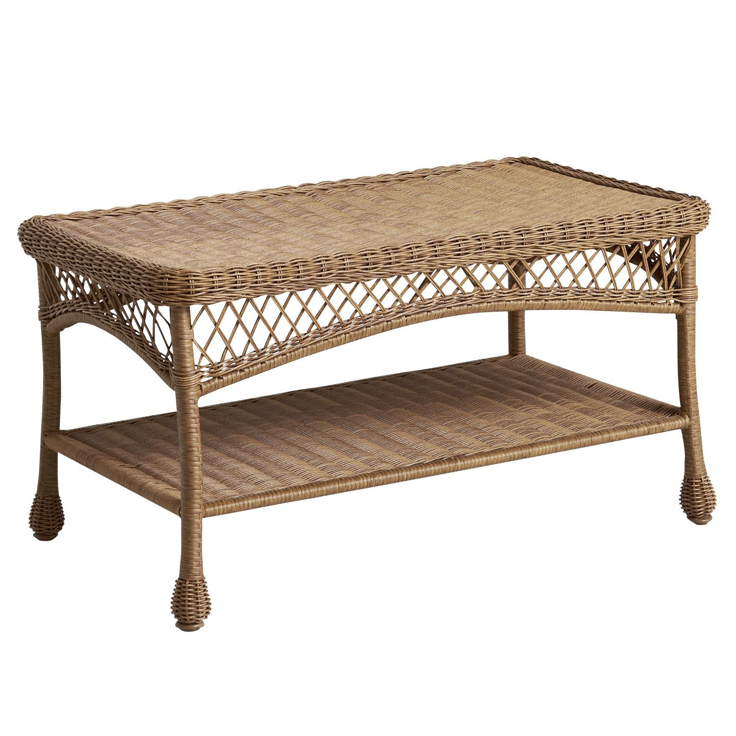 Santa Barbara Light Brown Coffee Table Found Pier Imports - Pier 1 outdoor coffee table