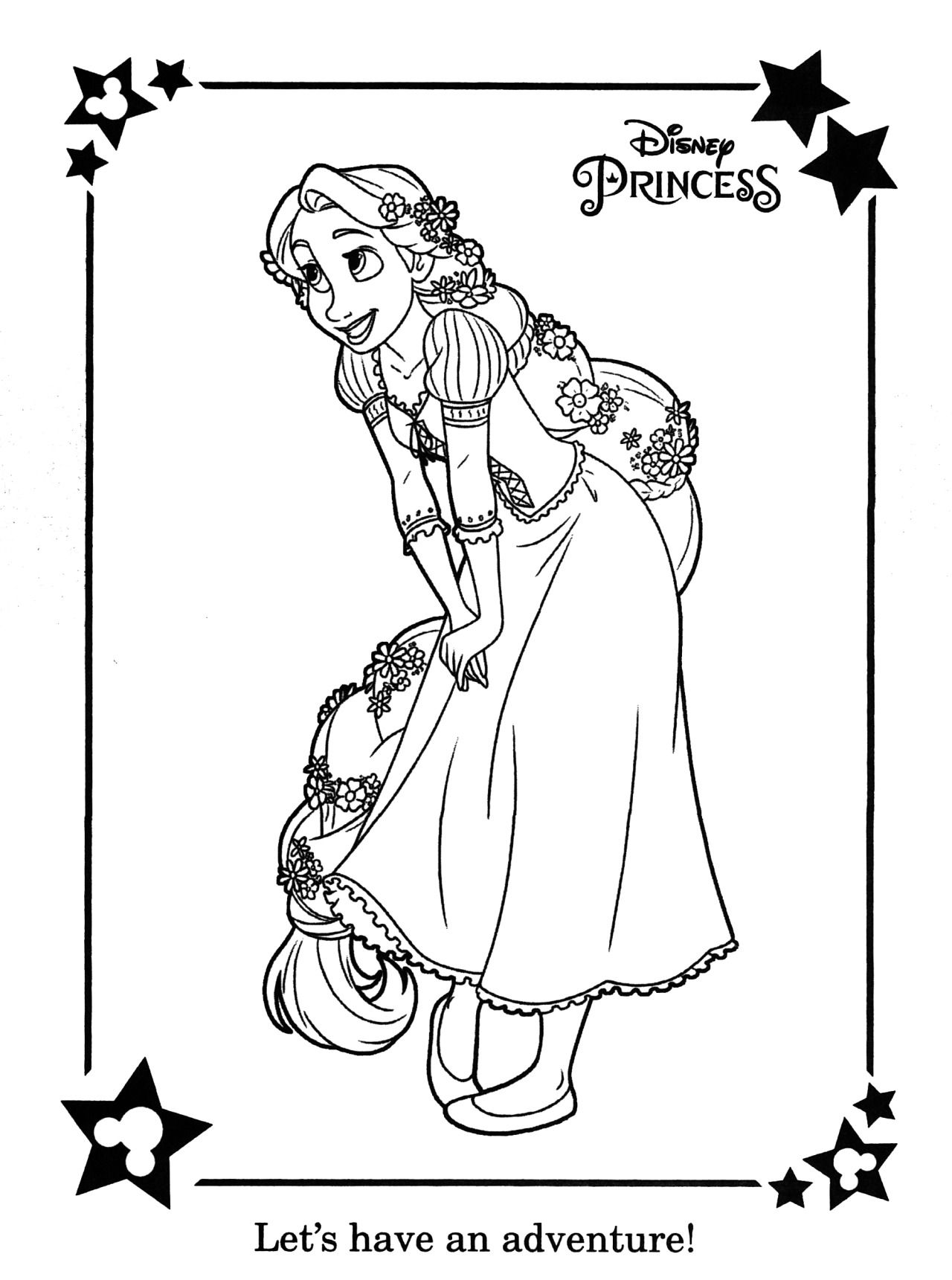 Ausmalbilder Rapunzel Maximus : Runningracingdancingchasing 2 3 I Picked Up A New Coloring Book