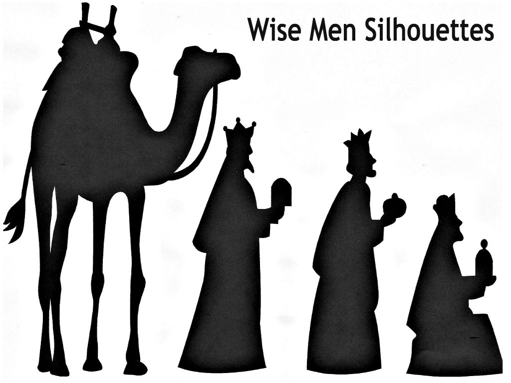 Three Wise Men Silhouette three wise men, graphic illustration and ...