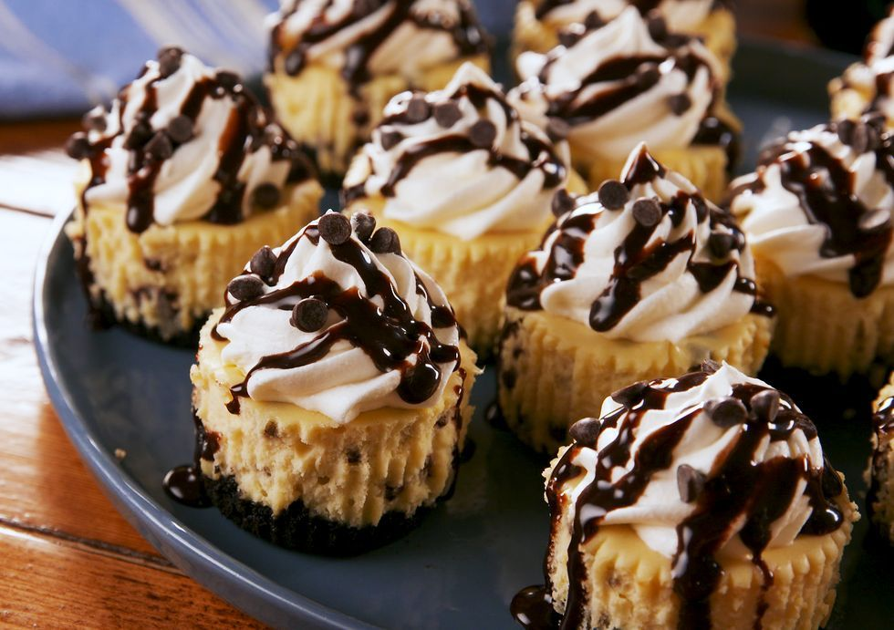 Mini Bailey S Cheesecakes Delish Com Baileys Cheesecake Chocolate Cheesecake Cheesecake Recipes