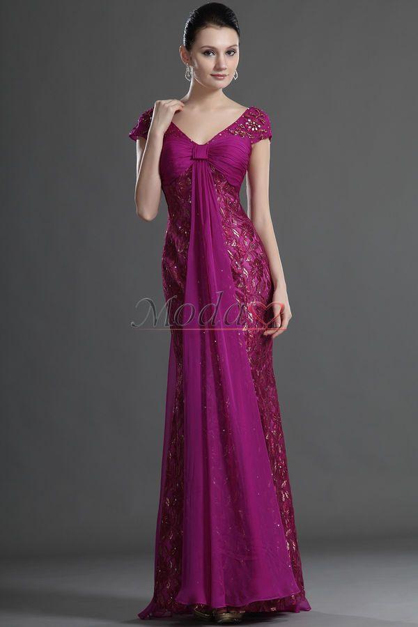 vestidos de señora para boda manga larga - Buscar con Google ...