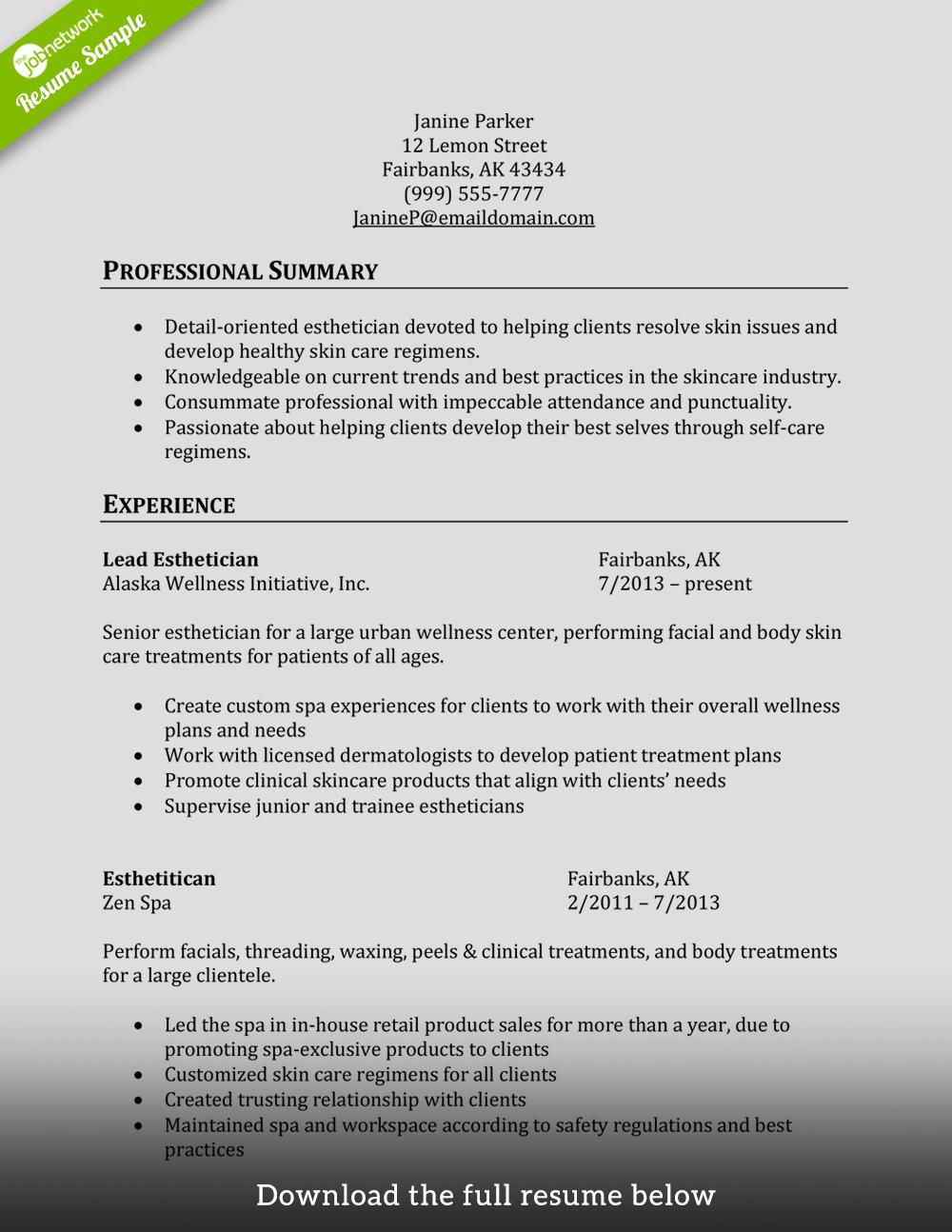 Cosmetology Resume Esthetician Png 1000 1294 Esthetician Resume Resume Examples Job Resume Examples