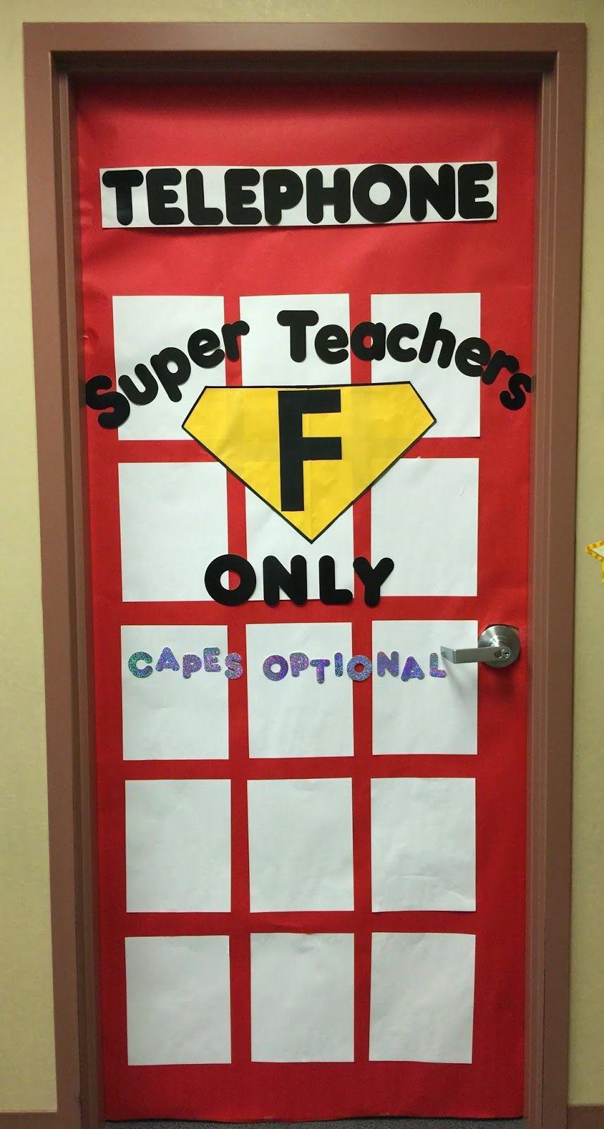 Busy Miss B Superhero Classroom Doors Superhero