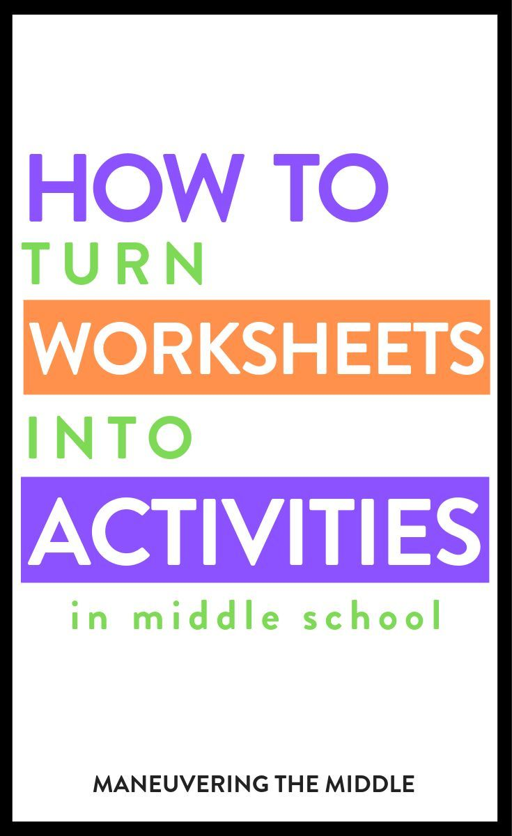 Turn Any Worksheet into an Activity is part of Middle school math, Teaching math, Teaching lessons plans, Education math, Social studies middle school, Middle school science - 4 ideas to keep students engaged and having fun with a simple worksheet