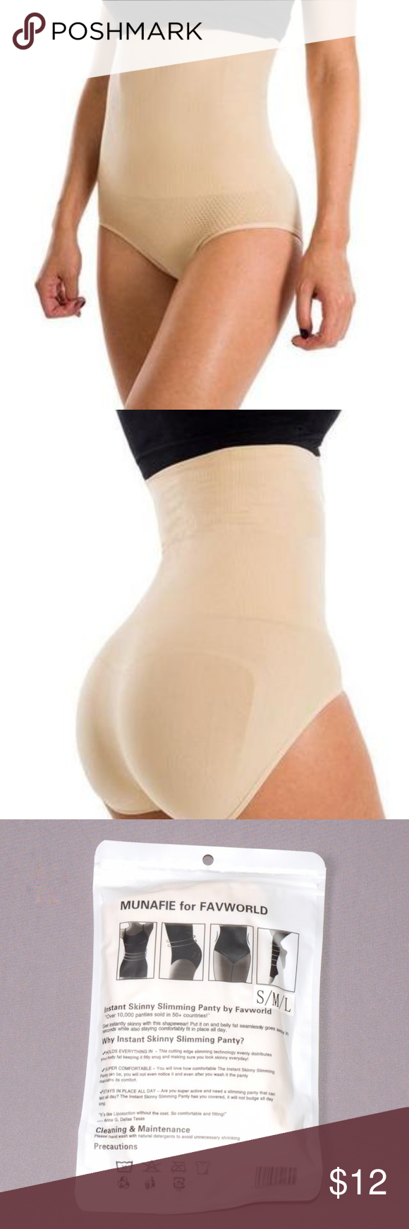 cf806a9a1e8b Munafie for FAVWORLD Slimming Panty Beige Brand: Munafie for FAVWORLD Size:  S/M