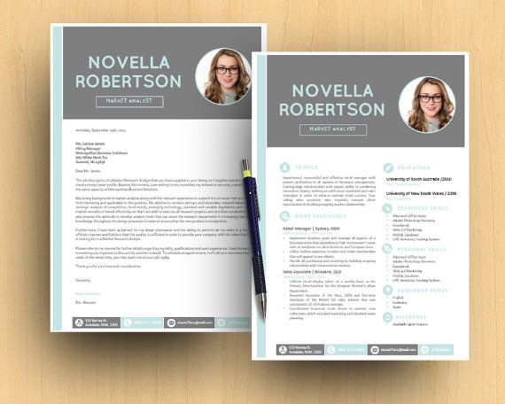 Photograph DIY Neat Modern Microsoft Word Printable Resume (1 and - ms word cover letter template