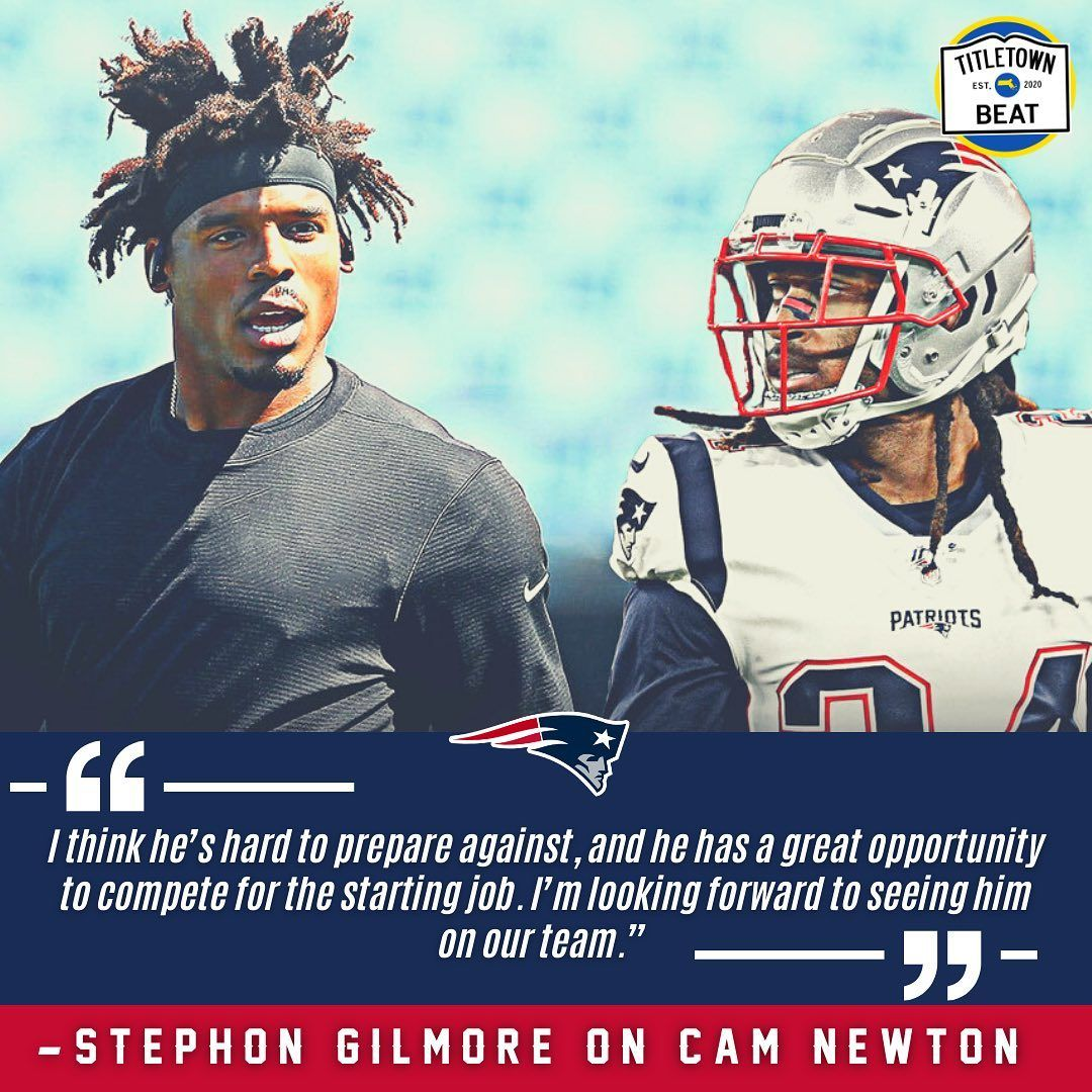 Game Respects Game Bumpnrungilmore Cameron1newton In 2020 New England Patriots Patriots Looking Forward To Seeing