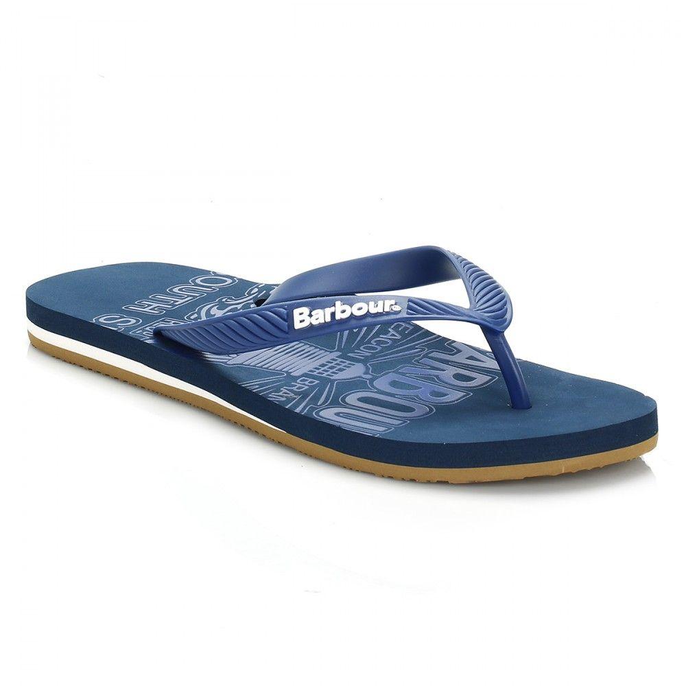 sale retailer 9e02a 6d77c Barbour Mens Navy Beacon Abstract Flip Flops | Men | New In ...