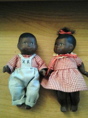 Black Porcelain Baby Dolls