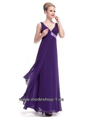 Leichtes Empire Abendkleid in Lila | Abendkleider Lila - günstig ...