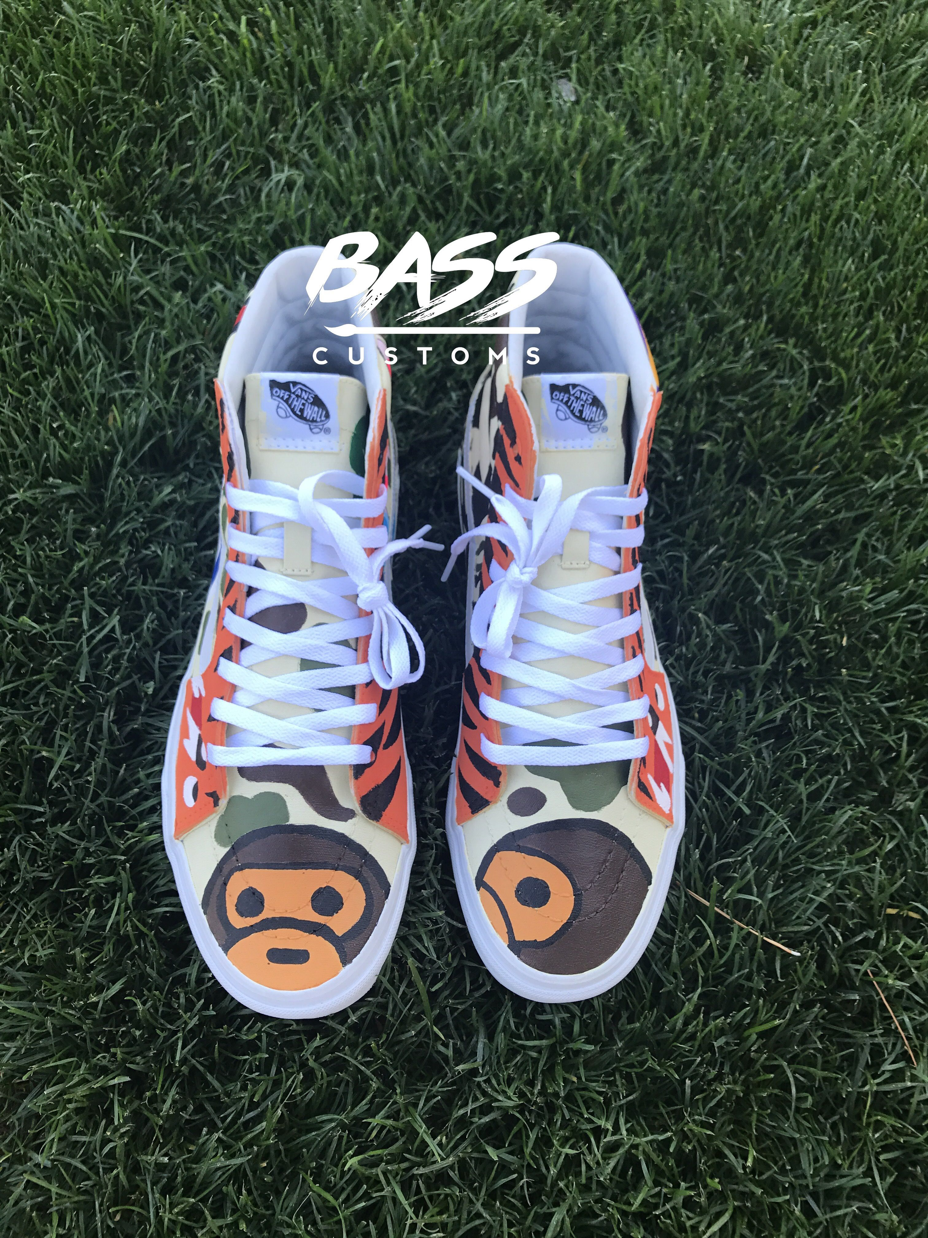 e7426f6dc86 Custom Bape vans Instagram  BassCustoms BassCustoms.com shop ...