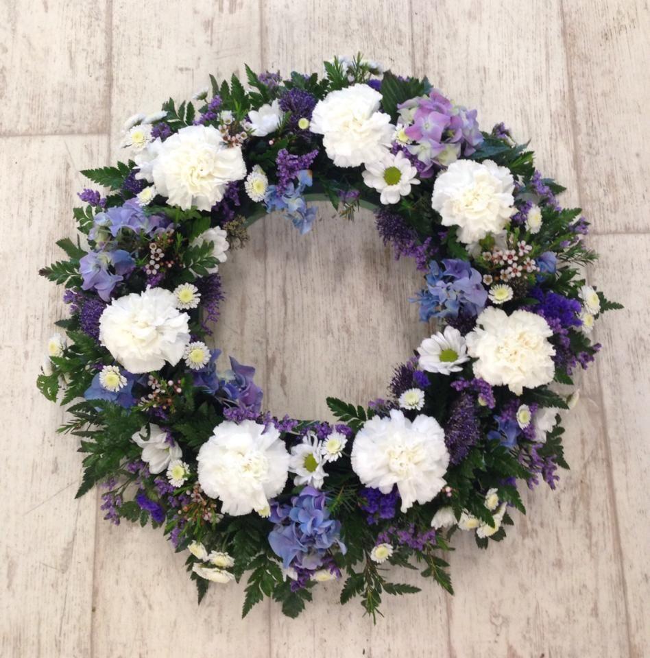 Blue, Lilac & White Wreath