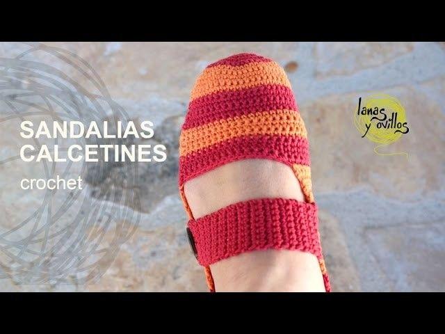 Tutorial Sandalias Pantuflas Crochet o Ganchillo en Español | En ...