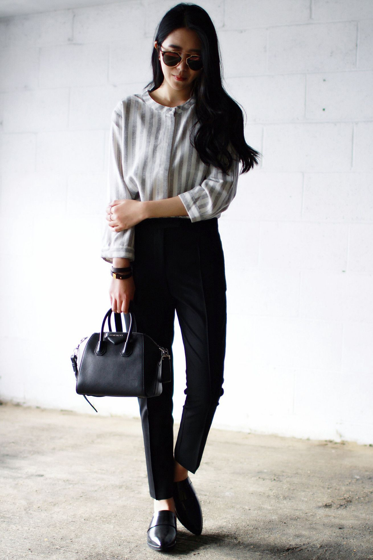 51851cf4150c Top - Just Female Trousers - Topshop Shoes - Mango Bag - Givenchy Mini  Antigona Bracelet - Celine Sunglasses - Dior so real