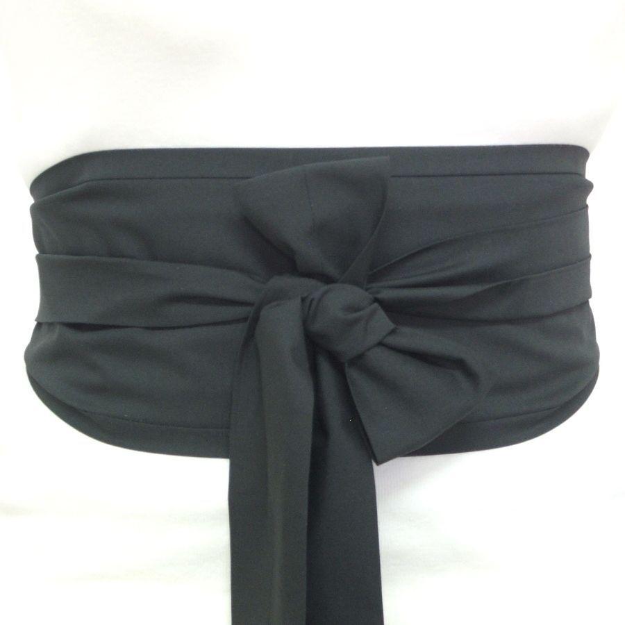 Fabric Black Cotton OBI Belt Japanese Geisha Kimono Style Waist Sash TIE Cincher | eBay