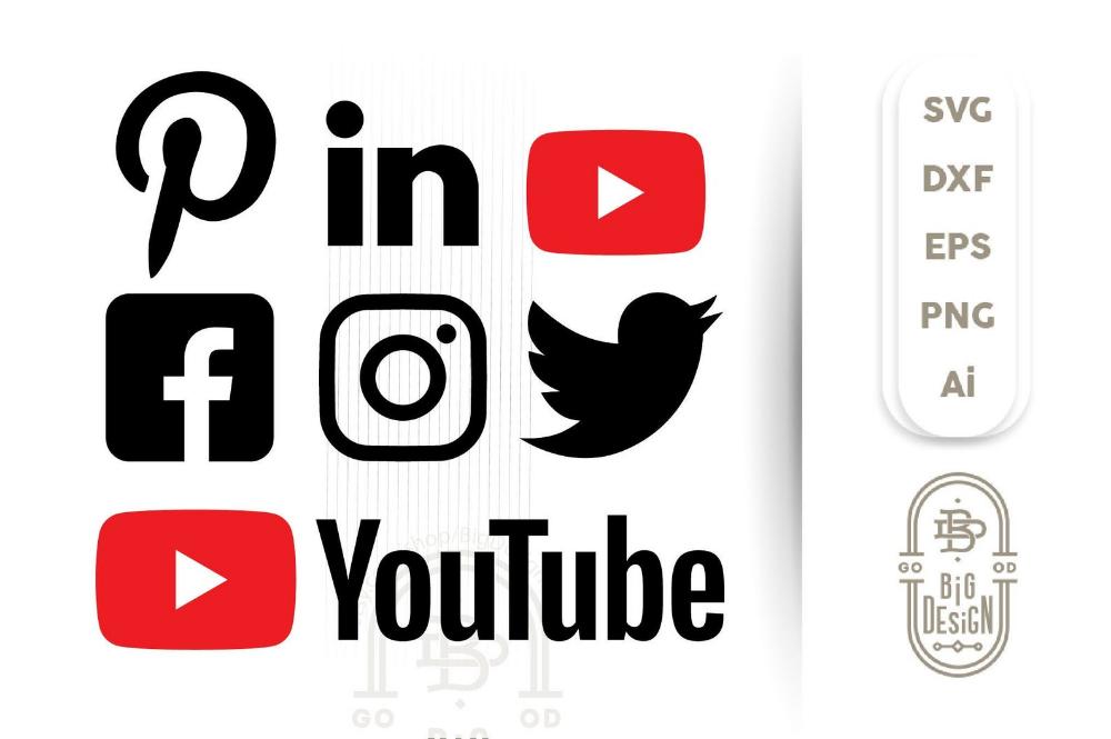 Social Media SVG Files Social icons SVG Facebook svg