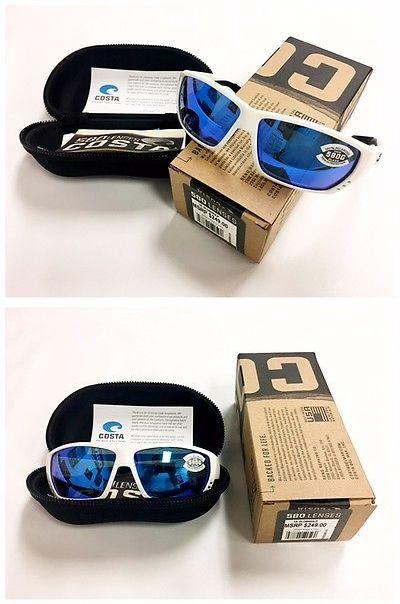 76ac39e5837 Sunglasses 151543  Costa Del Mar Tuna Alley Blue Mirror Glass 580G White  Frame- Ta