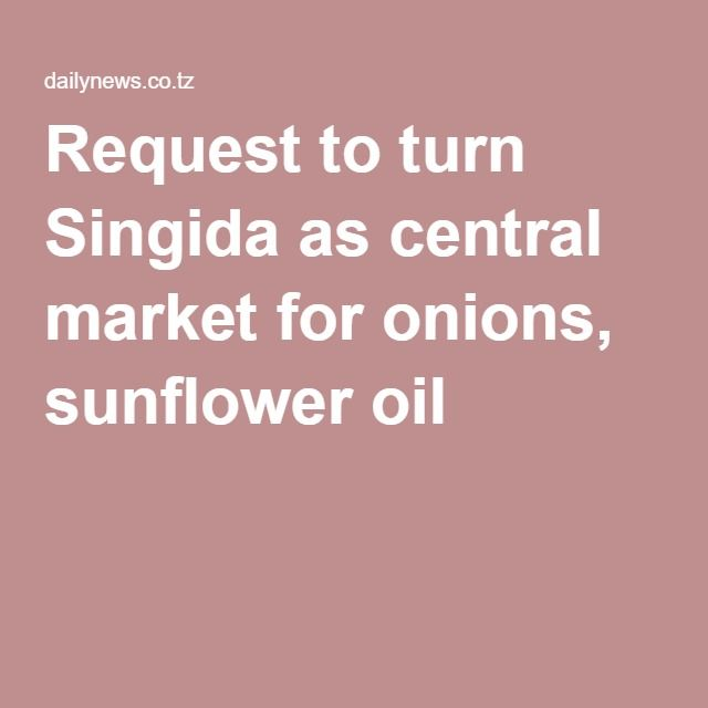 Request to turn Singida as central market for onions
