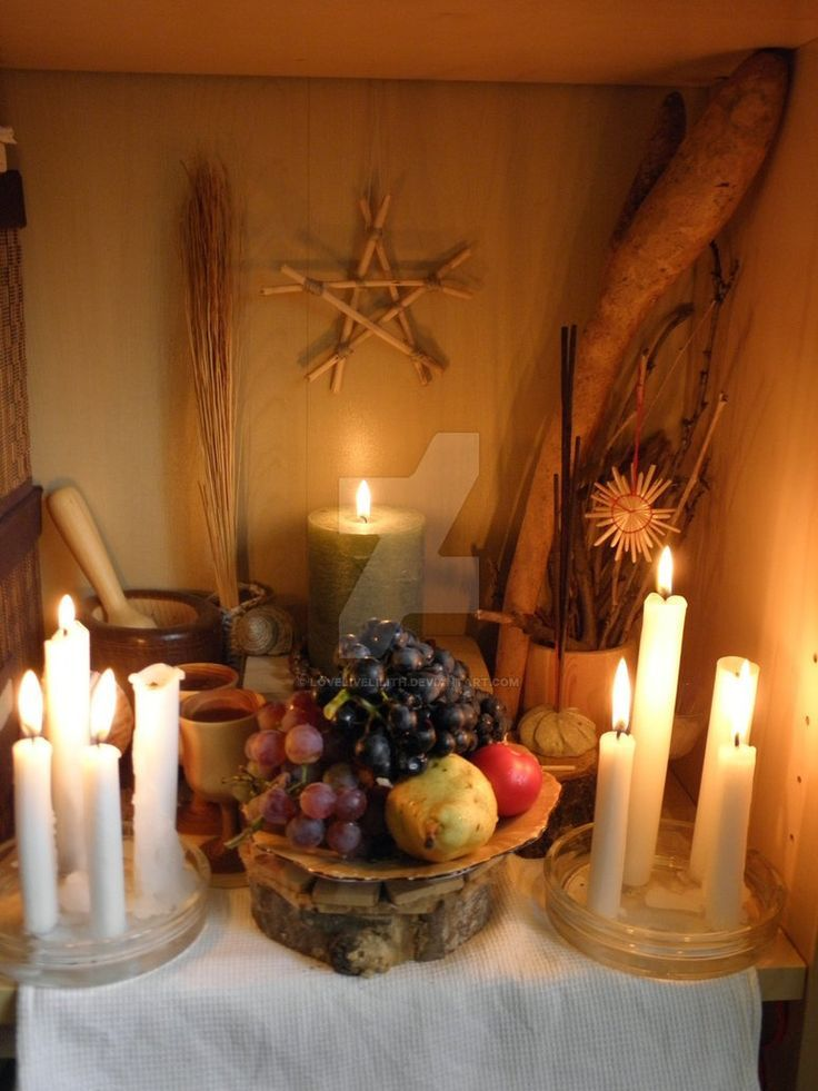 Mabon - Autumnfeast altar 2013 by LoveLiveLilith on DeviantArt