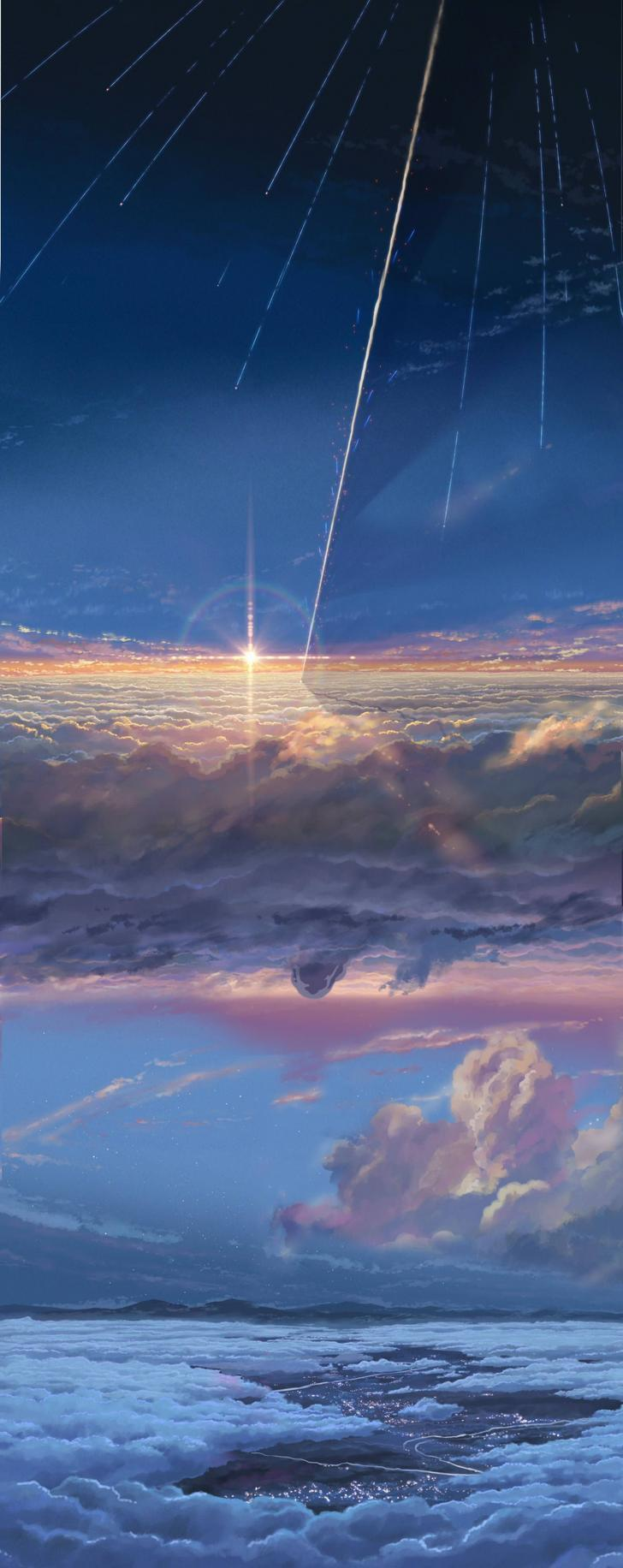 The amazing digital art Kimi no na wa wallpaper, Kimi no