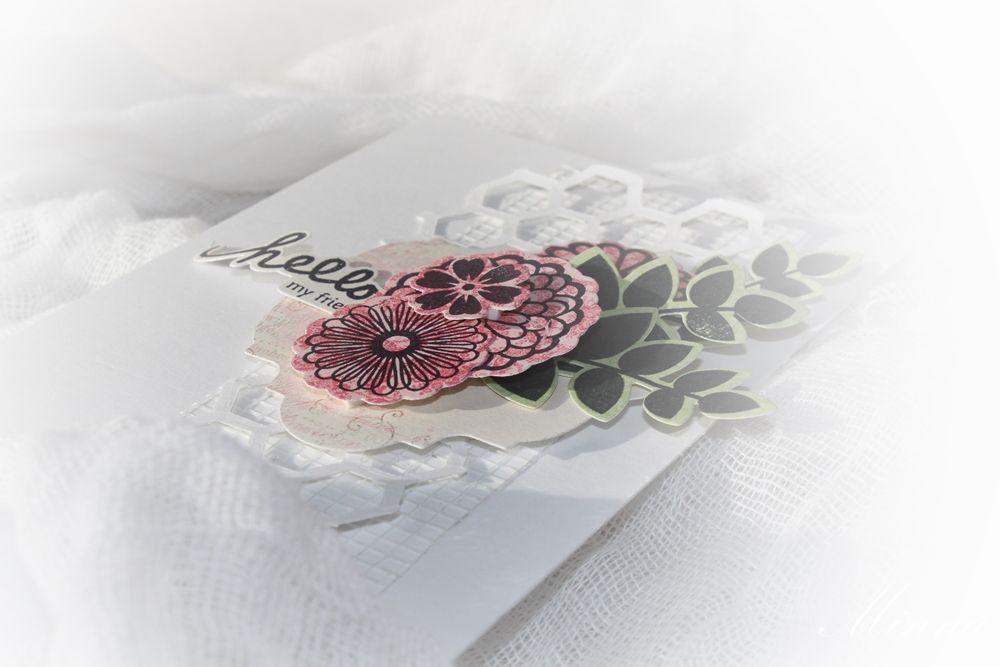 Kortti SIZZIX:n blogiin / A card for SIZZIX