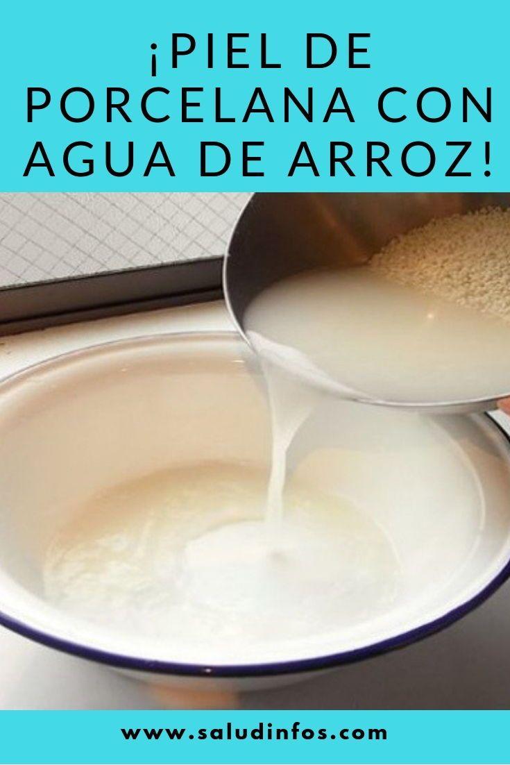 Piel De Porcelana Con Agua De Arroz Agua De Arroz Brillo De La