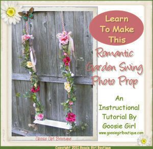 Download How to make a victorian inspired garden swing photo prop Sewing Pattern | What's New | YouCanMakeThis.com