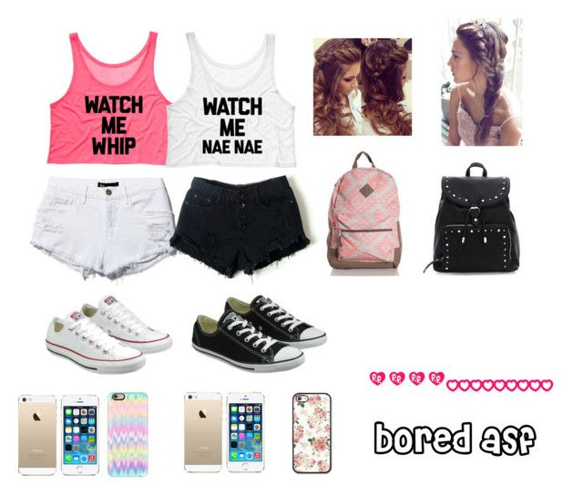 """lol bored"" by pimpcessmia on Polyvore featuring Converse, FingerPrint Jewellry and Casetify"