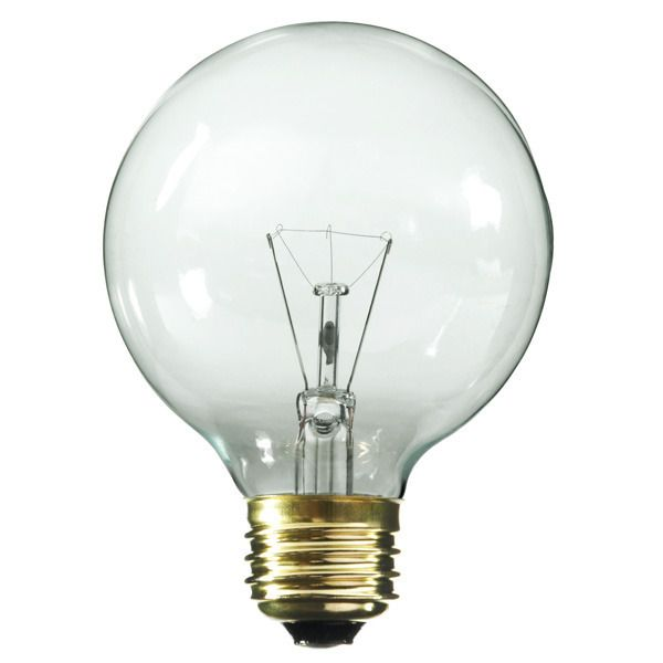 G25 Globe Incandescent Light Bulb 25w 130v Satco A3647 Globe Light Bulbs Bulb Globe Decor