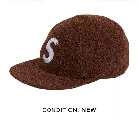 7ac61239bbe DS FW18 Supreme Polartec S Logo 6-Panel Strapback Hat Brown  fashion   clothing  shoes  accessories  mensaccessories  hats (ebay link)