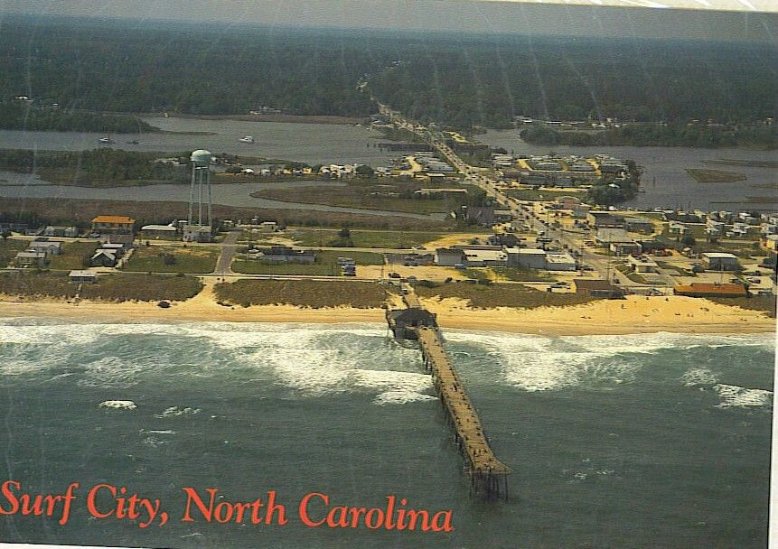 Surf City Nc In The 1970s Surf City Pier Topsail Island Surf City Topsail Island Surf City