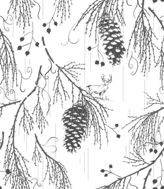 Sequoia Wellington-Grey - Eclectic - Wallpaper - san francisco ...