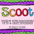 Division Scoot-up to 4 digit dividends  Looking for an alternative to worksheets? Get those kids up and moving around the room with a game of Scoot....